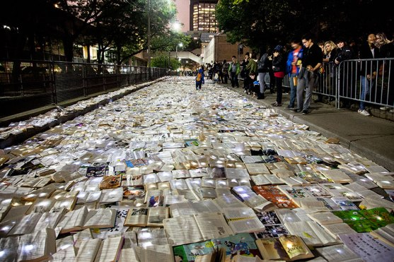 book-installation-literature-vs-traffic-luzinterruptus-toronto-8